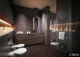 现代风格卫生间浴室一体装修效果图片大全