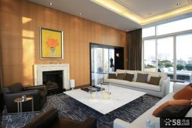 现代家庭设计装修客厅效果图大全