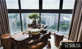 新中式风格室内阳台装修效果图片