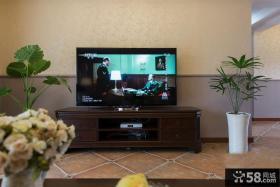 美式风格简易客厅电视背景墙装修图片大全