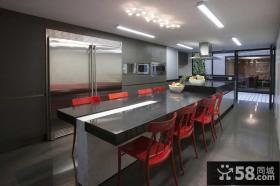 简洁现代风格三室两厅餐厅装修效果图