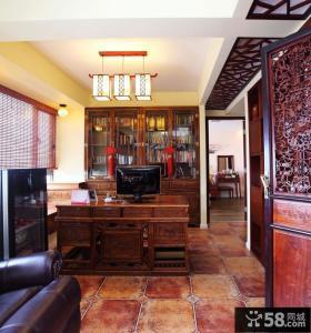 古典中式书房装修效果图大全2014图片