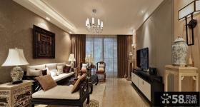 现代中式风格客厅装修设计效果图