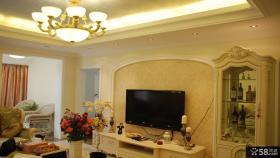 欧式风格50平米小户型客厅装修效果图