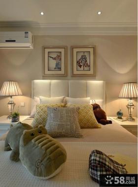 时尚美式卧室装饰画效果图欣赏