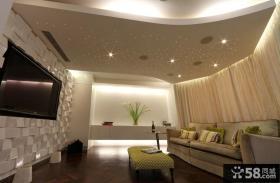 简约设计室内客厅吊顶图片大全