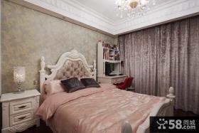 温馨欧式卧室壁纸装修效果图