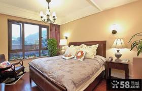 东南亚风格简单的卧室设计效果图