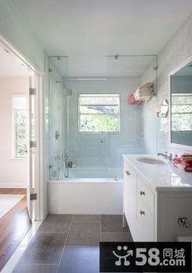 简单清新婉约的简约风格装修效果图卫生间图片