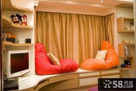 简约风格房间飘窗装修设计图片