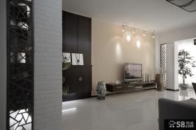 现代中式风格客厅电视机背景墙效果图片大全