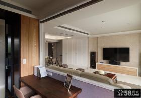 雅致简约两室一厅室内设计效果图片