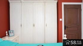 简欧式卧室衣柜装修效果图片