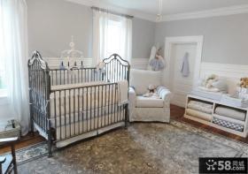 中性色婴儿房装修效果图