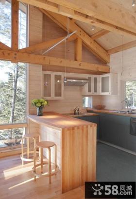美式田园风格家具厨房整体橱柜图片