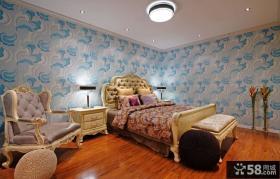 欧式风格卧室墙纸效果图欣赏