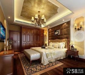 豪华奢侈的古典欧式风格卧室背景墙装修效果图大全2012图片