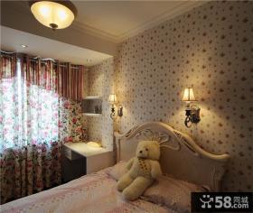欧式风格儿童卧室壁纸装修效果图