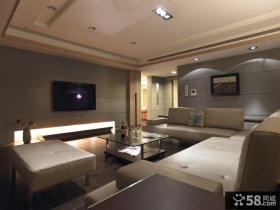 现代优质奢华客厅电视背景墙