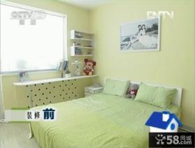 交换空间小户型绿色田园风格卧室装修效果图