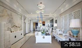 中式简约风格客厅设计家装效果图