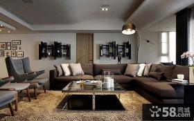 美式后现代风格客厅装修效果图欣赏