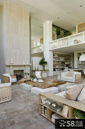 别墅复式客厅空间
