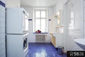 北欧风格卫生间白瓷砖贴图