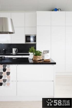 10万打造80平2014优质后现代开放式厨房装修风格