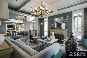 新古典风格别墅客厅室内效果图欣赏