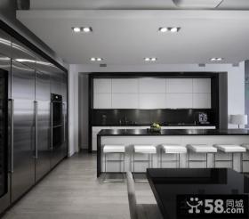 现代风格开放式厨房装修效果图