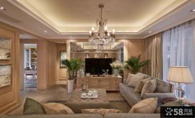 新古典风格别墅室内家装设计效果图