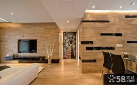 现代装修客厅与餐厅吊顶设计图片