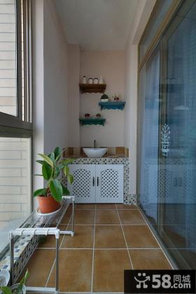 地中海风格生活阳台设计