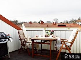 复式楼现代风格阳台装修效果图大全2012图片