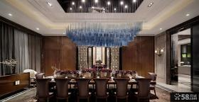 欧式风格大餐厅吊顶装修效果图