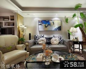 欧式小客厅沙发背景墙效果图