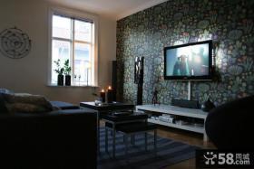 现代壁纸电视背景墙装修效果图欣赏
