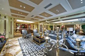 欧式风格豪华别墅大面积客厅装修图片