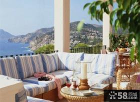 休闲区阳台沙发装修图片