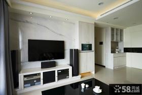 现代装饰设计客厅电视背景墙图大全