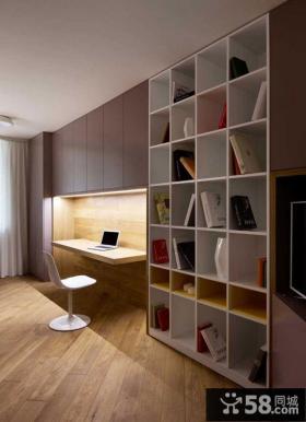 现代简约风格书房装修设计图大全