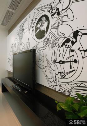 2013年现代电视背景墙效果图