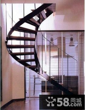 旋转式农村小别墅楼梯设计效果图