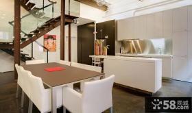 复式室内餐厅设计效果图欣赏大全