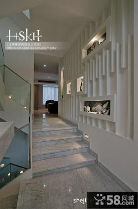 现代复式楼室内楼梯装修效果图
