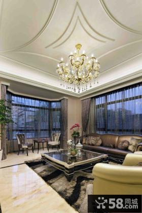 新古典风格家装客厅吊顶效果图欣赏