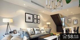 小面积客厅沙发背景墙画效果图