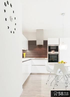 极简风格厨房餐厅一体效果图片
