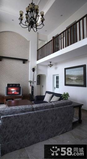 复式家装客厅电视背景墙设计图